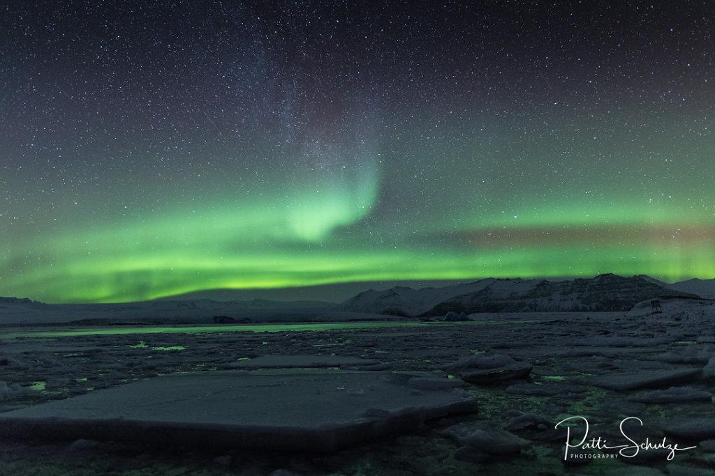 Aurora at the Lagoon